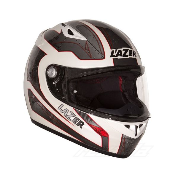 Casti integrale Lazer Casca Lazer Kestrel Deep White Metal Grey Red