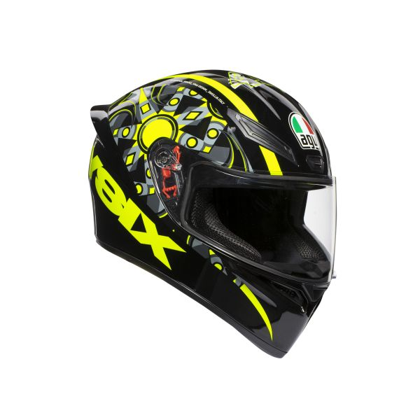 Casti AGV AGV Casca K1 Top ECE2205 Flavum 46 Black/Yellow 2019