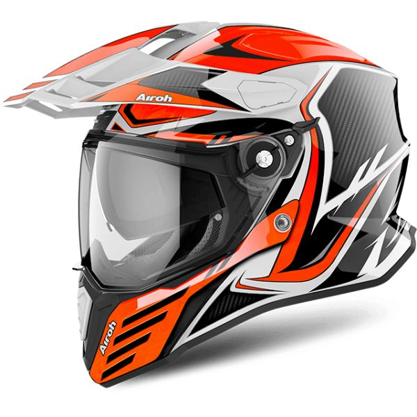 Casti ATV Airoh Casca Commander Carbon Orange Gloss