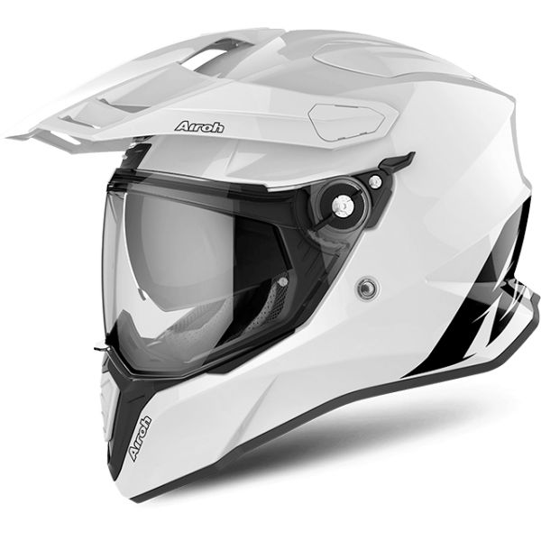 Casti ATV Airoh Casca Commander Carbon White Gloss