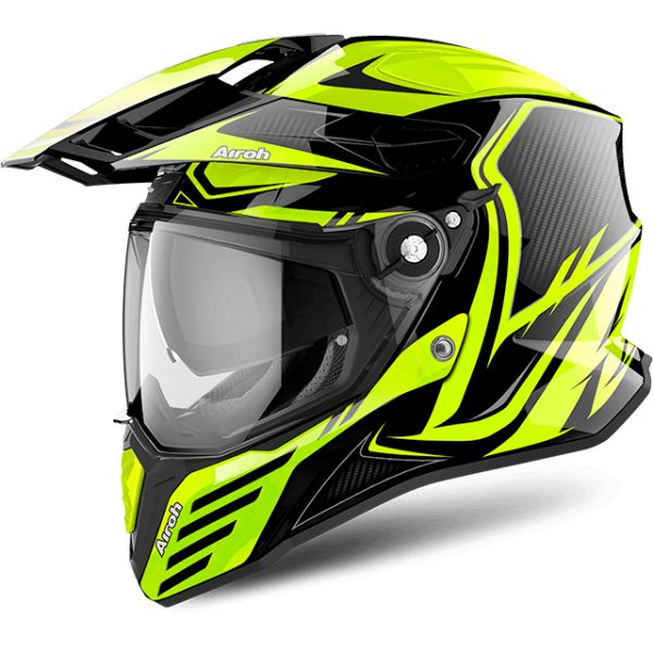 Casti ATV Airoh Casca Commander Carbon Yellow Gloss