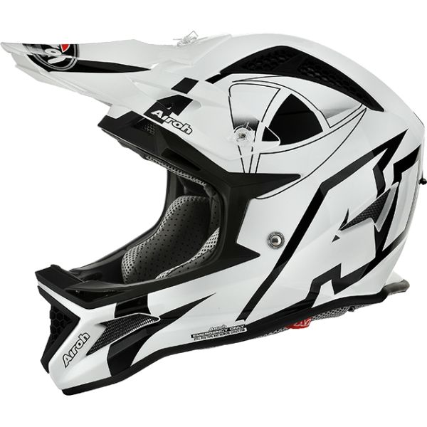 Airoh Casca Downhill Fighters Trace Millenium White Gloss