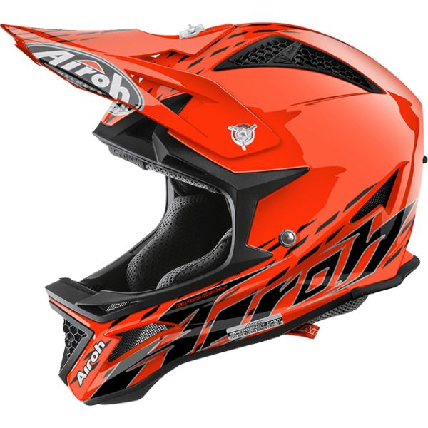 Airoh Casca Downhill Fighters Trace Orange Gloss