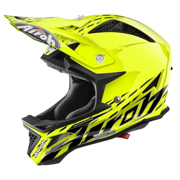 Casti Bike Airoh Casca Downhill Fighters Trace Yellow Gloss