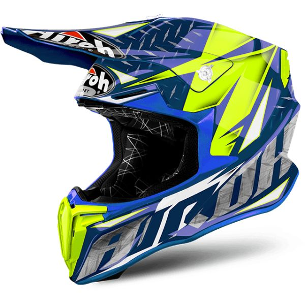 Casti MX-Enduro Airoh Casca Twist Iron Blue Gloss