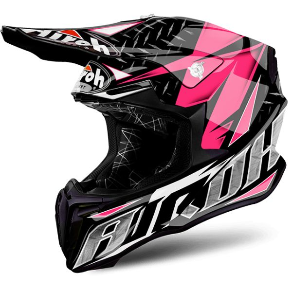 Casti MX-Enduro Airoh Casca Twist Iron Pink Gloss