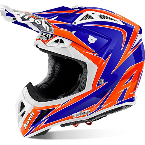 Casti MX-Enduro Airoh LICHIDARE STOC Casca Aviator 2.2 Edge Blue Gloss 17