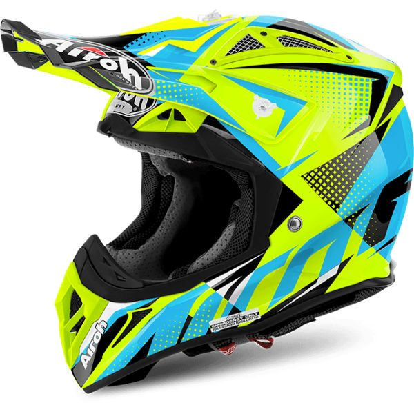 Casti MX-Enduro Airoh Lichidare Stoc Casca Aviator 2.2 Flash Yellow Gloss 17