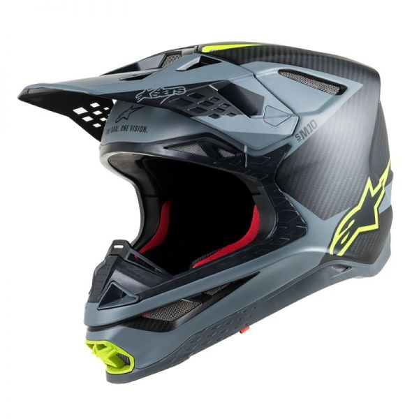Alpinestars Casca Supertech M10 Meta Black/Gray/Yellow S9