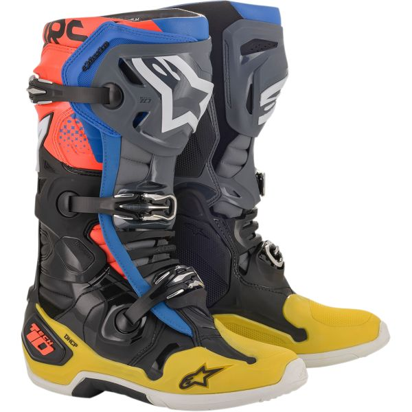 Alpinestars Cizme Tech 10 Black/Yellow/Blue Red 2020