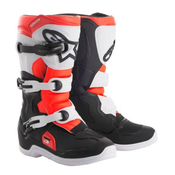 Alpinestars Cizme Tech 3S Black/White/Red Copii Mici