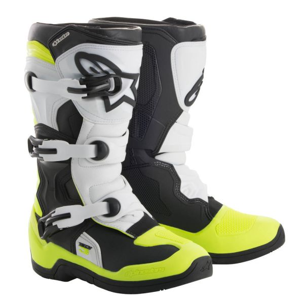 Alpinestars Cizme Tech 3S Black/White/Yellow Copii Mici