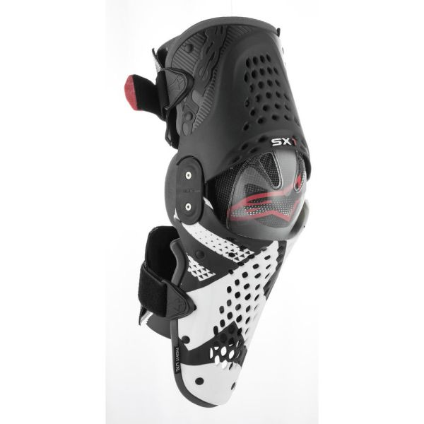 Alpinestars Genunchiere SX-1 Black/White/Red 2019