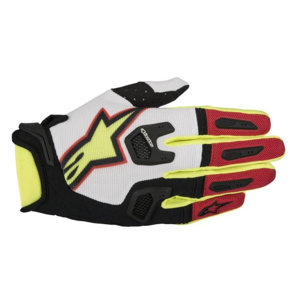 Alpinestars LICHIDARE STOC Manusi S7 Racefend White/Red/Yellow