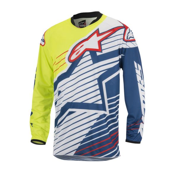 Tricouri MX-Enduro Alpinestars LICHIDARE STOC Tricou Racer Braap S7 Yellow/Blue