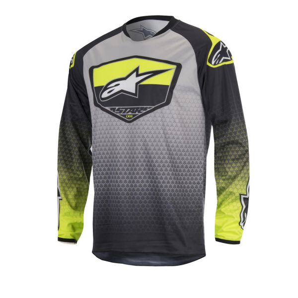 Tricouri MX-Enduro Alpinestars LICHIDARE STOC Tricou Racer Supermatic S7 Black/Yellow