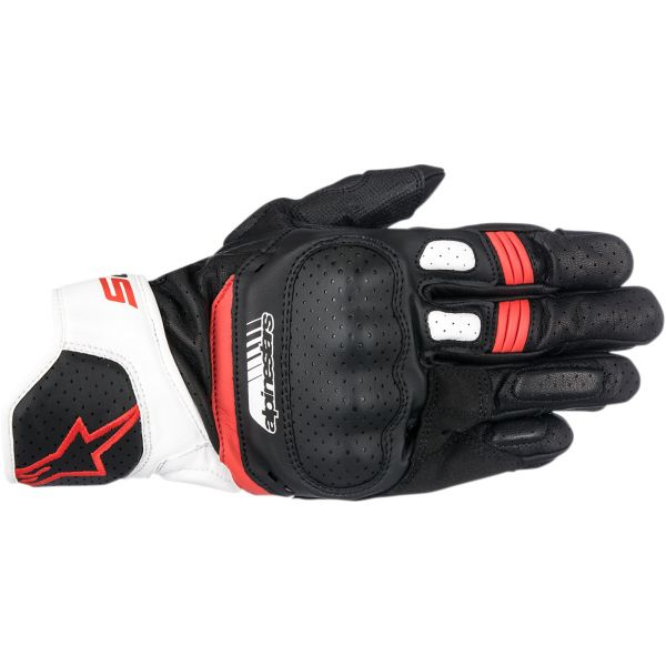 Alpinestars Manusi Piele SP-5 V2 Black/White/Red 2020