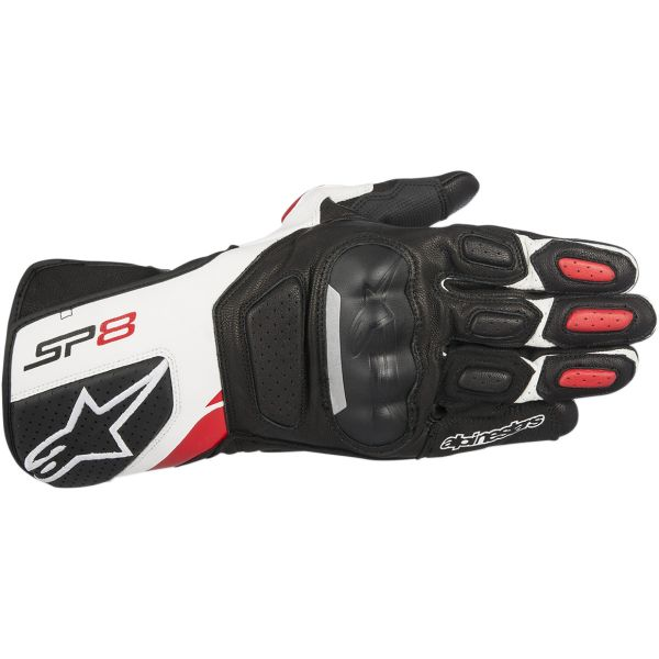 Alpinestars Manusi Piele SP-8 V2 Black/White/Red 2020
