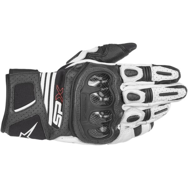 Alpinestars Manusi Piele SP X Air Carbon V2 Black/White 2020