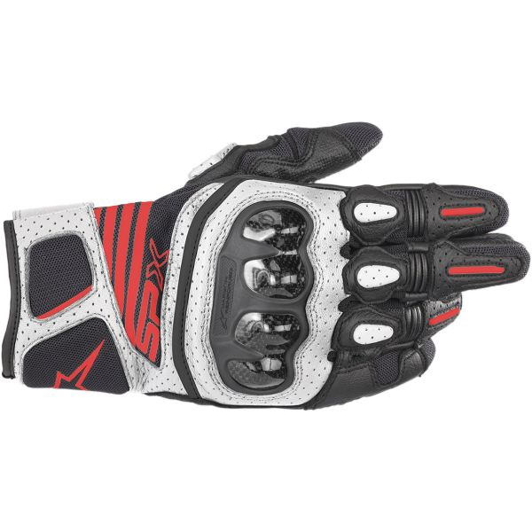Alpinestars Manusi Piele SP X Air Carbon V2 Black/White/Red 2020