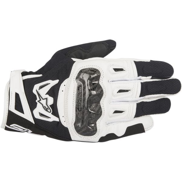Alpinestars Manusi Textile SMX-2 Air Carbon V2 Black/White 2020