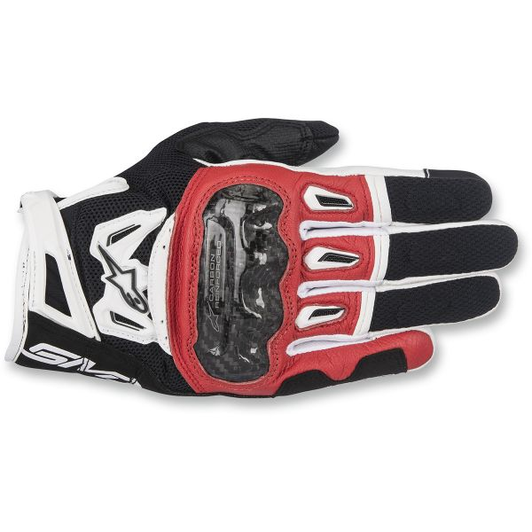 Alpinestars Manusi Textile SMX-2 Air Carbon V2 Black/White/Red 2020