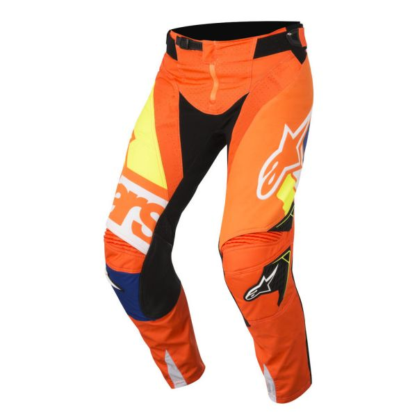 Alpinestars Pantaloni Techstar Factory Orange/Blue/White S8