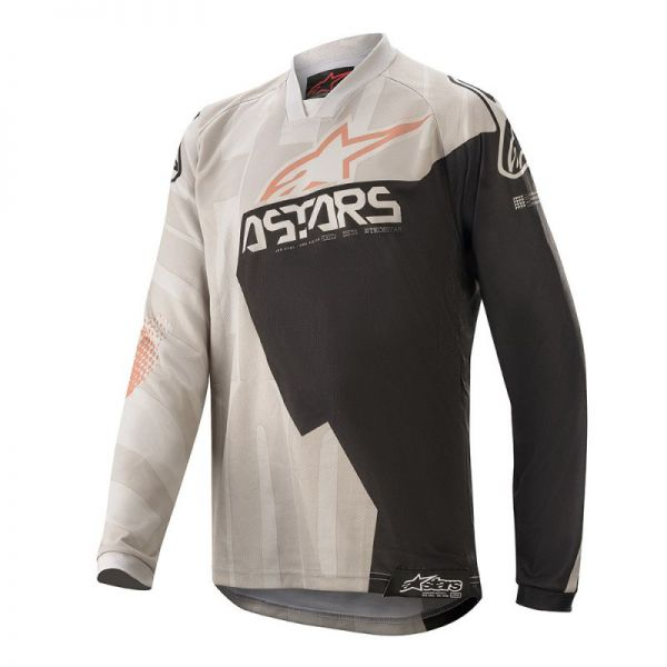 Alpinestars Tricou Copii Factory Racer S20 Grey/Black/Rust