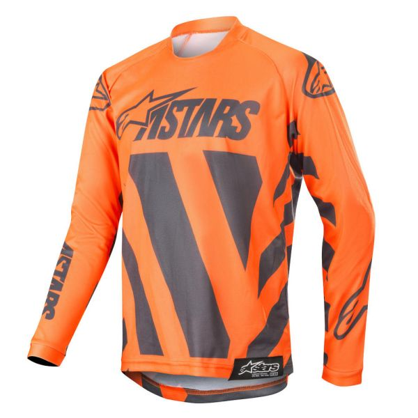 Alpinestars Tricou Racer Braap Anthracite/Orange S9 Copii
