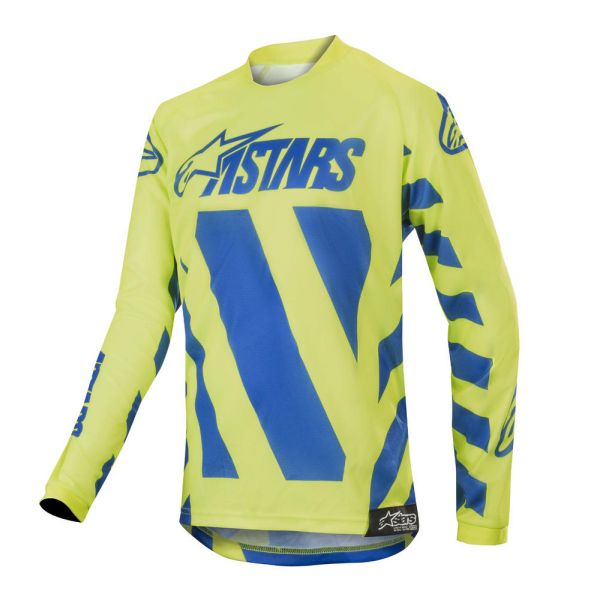 Alpinestars Tricou Racer Braap Blue/Yellow S9 Copii