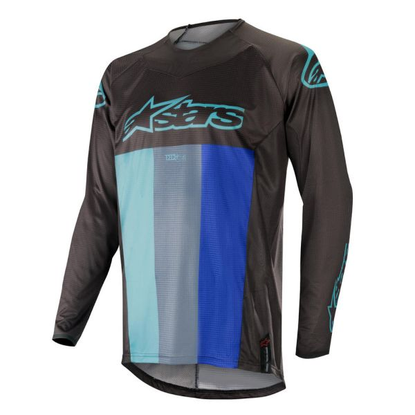 Alpinestars Tricou Techstar Venom Black/Turquoise/Orange S9