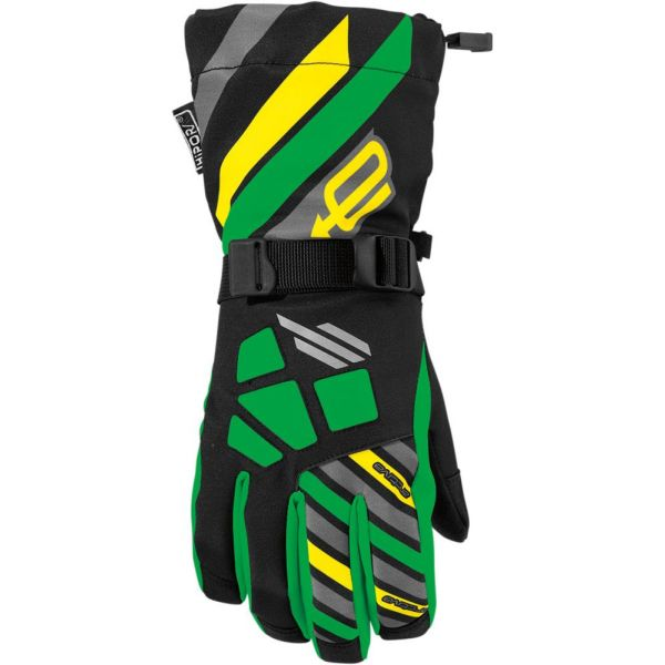 Arctiva Manusi Long Cuff Ravine Black/Green S7 Copii