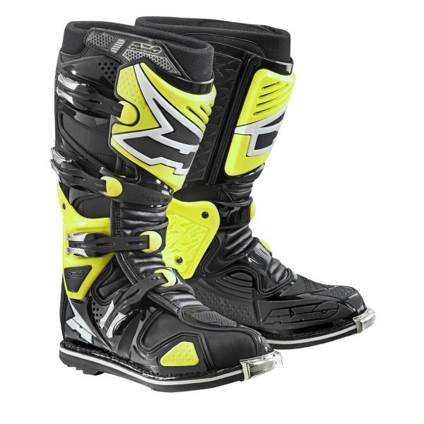 Cizme MX-Enduro Axo Cizme A2 Cu Balama Black/Yellow