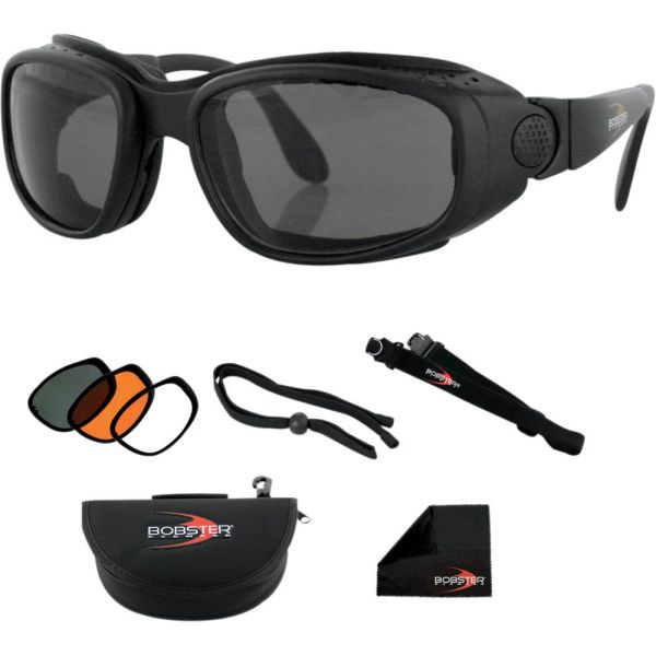 Bobster Ochelari Sport Street Convertible Black Lenses Interchangeable