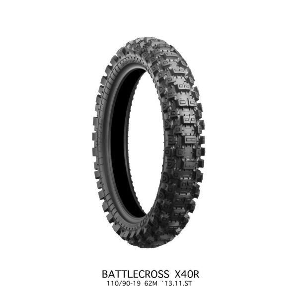 Bridgestone ANVELOPA BATTLECROSS X40 HARD REAR 100/90 - 19 57M TT NHS