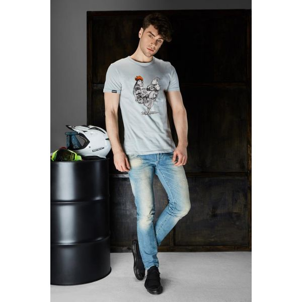 Davdev9 Tricou Two Stroke Chicken Gray