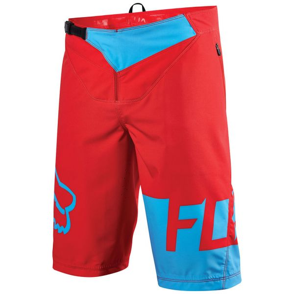 Fox Pantaloni Bike Flexair Shorts DH Red/Blue