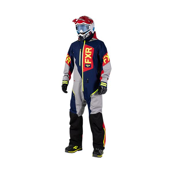 FXR Combinezon Recruit Lite Navy/Lt Grey/Red/Hi Vis