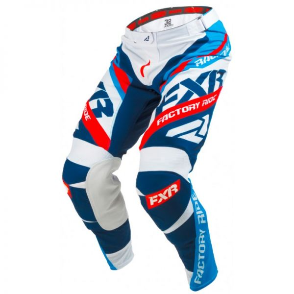 FXR LICHIDARE STOC Pantaloni Revo White/Blue/Red