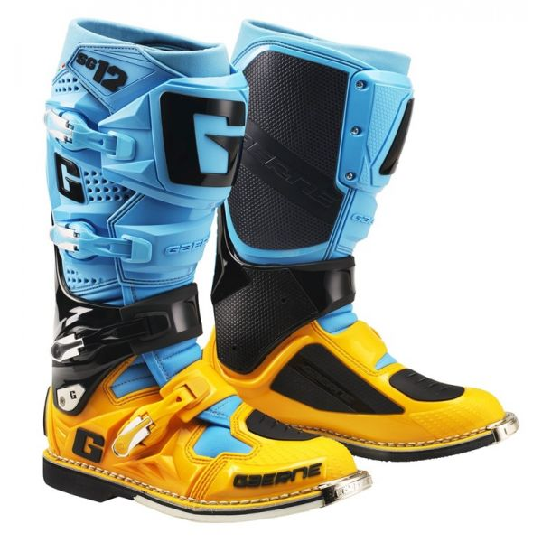 Cizme MX-Enduro Gaerne Cizme SG12 Limited Edition Powder Blue/Orange 18