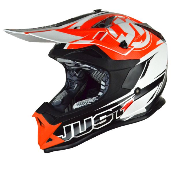 Casti MX-Enduro Just1 Casca J32 Pro Rave Black/Orange
