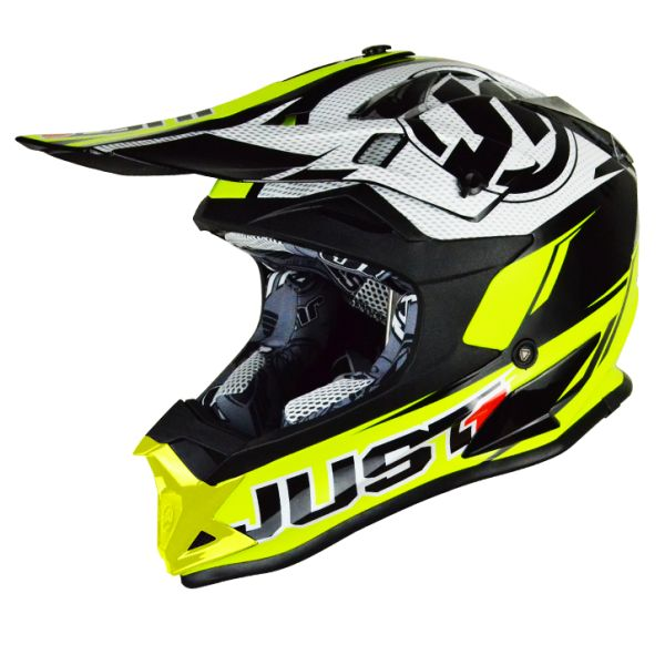 Casti MX-Enduro Just1 Casca J32 Pro Rave Neon Yellow/Black