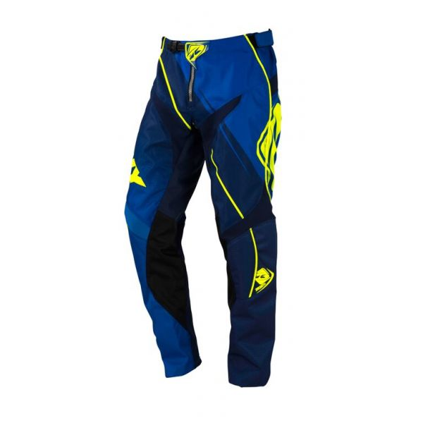 Kenny LICHIDARE STOC Pantaloni MX Track S6 Blue Neon Yellow