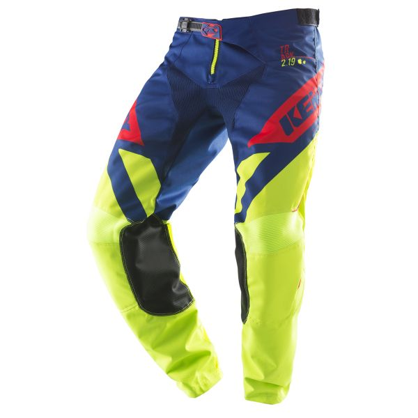 Kenny Pantaloni Track Lime/Navy/Red S9