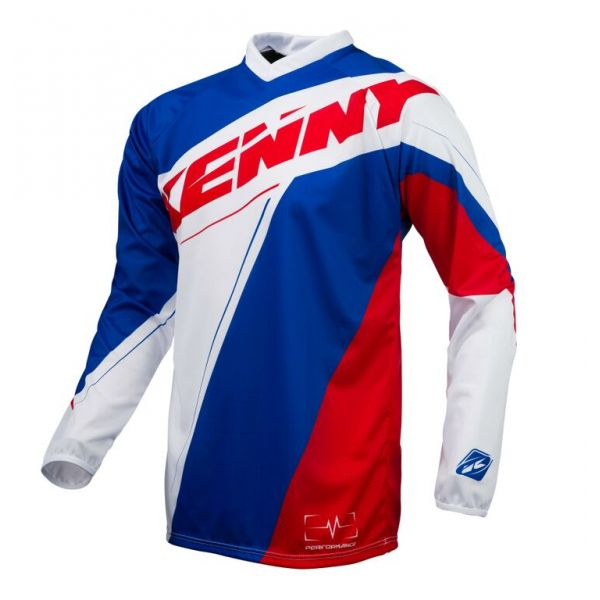 Kenny LICHIDARE STOC Tricou MX Performance S6 Blue White Red