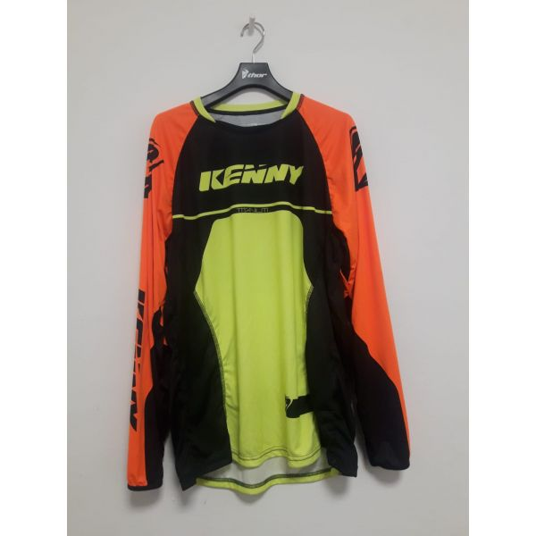 Kenny LICHIDARE STOC Tricou Titanium Black/Orange/Yellow Flo S6