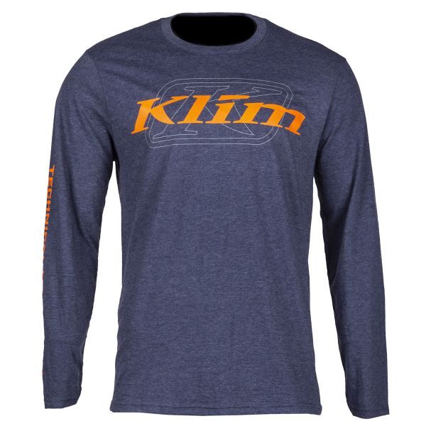 Klim Bluza K Corp LS T Heathered Navy/Strike Orange 2020