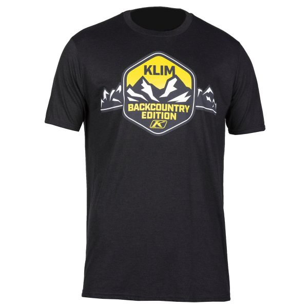 Klim Tricou Backcountry Edition T Black/Yellow 2020