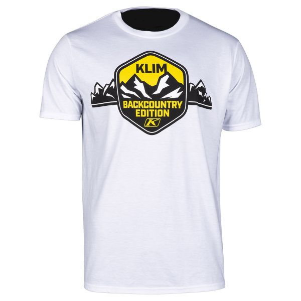 Klim Tricou Backcountry Edition T White/Yellow 2020