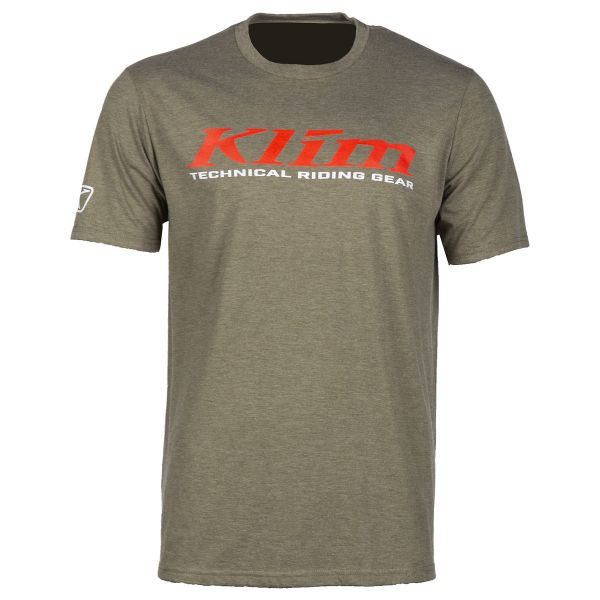Klim Tricou K Corp SS T Military Green/Risk Red 2020